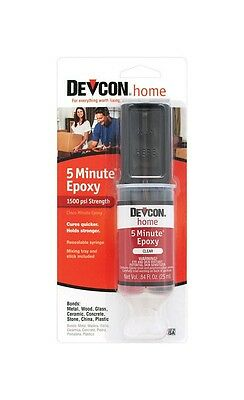 NEW! DEVCON 5 Minute Epoxy High Strength 1500 PSI S208 20845