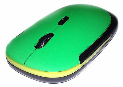 Nice Green Thin Slim Wireless Mouse Mice For PC Laptop Apple Macbook. 062