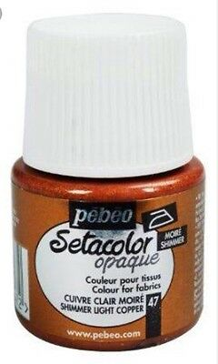 Pebeo Setacolor Opaque Fabric Paint - Shimmer Light Copper
