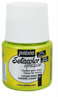 Pebeo Setacolor Opaque Fabric Paint - Shimmer Canary