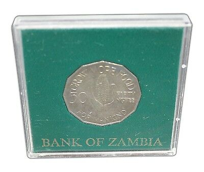 Zambia 50 Ngwee, 11.6 g Copper Nickel Coin, 1969, KM#14, Mint, F.A.O