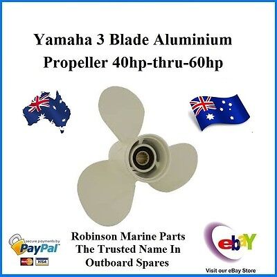 "A Brand New 3 Blade Alloy Propeller Suits Yamaha 40hp-thru-60hp 13"" Pitch (G)"