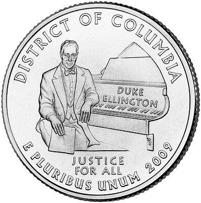 2009 D District of Columbia Quarter BU