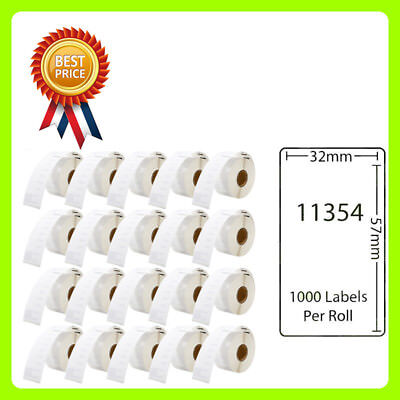 20 Rolls 11354 Labels Compatible for Dymo/Seiko 57 x 32mm 1000 labels per roll
