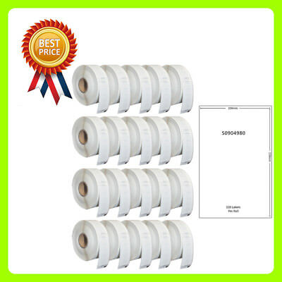 20 Roll S0904980 Labels Compatible for Dymo/Seiko 104 x 159mm 220 label per roll