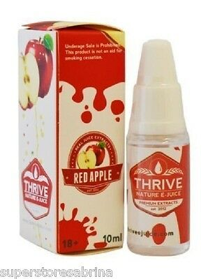 Thrive - Red Apple E-Liquid/ E-Juice For Electric Shisha Pens Refills (10ml)