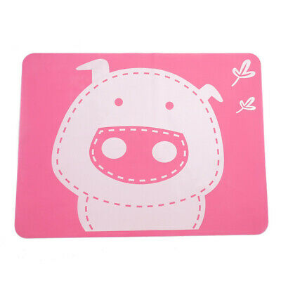 Silicone Cartoon Pig Child Dining Coaster Mat Foldable Heat Resistant Placemat