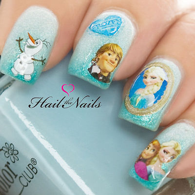 Frozen Nail Art Wraps Water Transfers Decals Elsa Olaf Anna Disney Y920