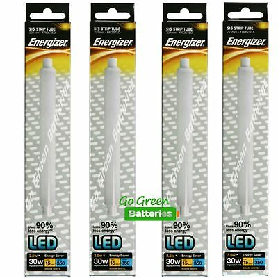 4x Energizer S15 3.5Watt LED Strip Tube 221mm 350 Lumens, Equivalent-30W Frosted