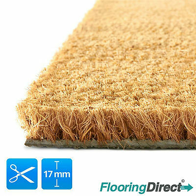 Coir mat - Coconut door matting large heavy duty 17mm - 1m&2m wide -  Any size.