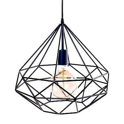 Suspension light AZALEE black LIGNES DROITES Vintage Scandinavian cage geometric
