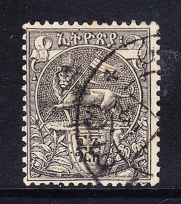 ETHIOPIA 1906 Postage Due 16g black with overprint - fine used SGD114. Cat £55