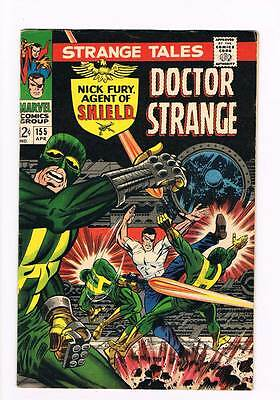 Strange Tales # 155 Nick Fury Doctor Strange grade 7.5 scarce hot book !