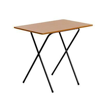 Folding Laptop Desk PC Home Office University Study Student Table - Wood Effect
