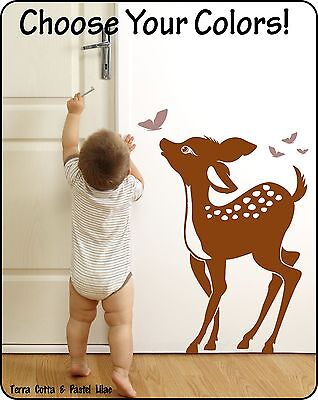 Baby Deer Fawn Wall Decal Sticker for Nursery or Childrens Room / Bambi Wall art