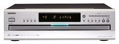 Onkyo DX-C390 CD Player with 6-Disc CD Carousel Changer Silver - NEW