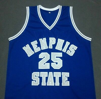 PENNY HARDAWAY Memphis State Blue Basketball Jersey Gift Any Size
