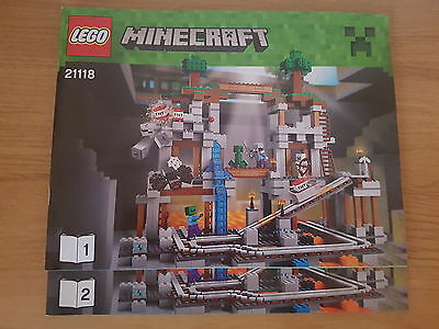 LEGO MINECRAFT - 21118 The Mine - INSTRUCTION MANUAL ONLY