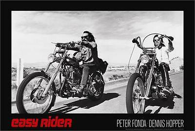 EASY RIDER - MOVIE POSTER - 24x36 FONDA HOPPER MOTORCYCLES 9103