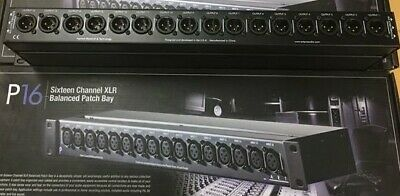 ART P16,16Ch Balanced XLR Patchbay
