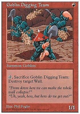 4x Squadra di Genieri Goblin - Goblin Digging Team MTG MAGIC 5E Eng