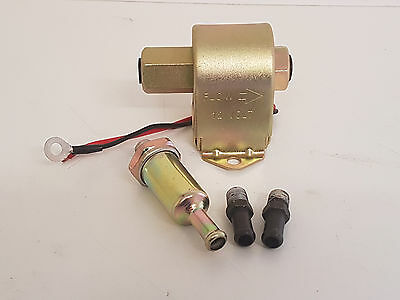 12v Electric Fuel Pump + Inline Filter, Suitable for Diesel/Petrol Eng 12v