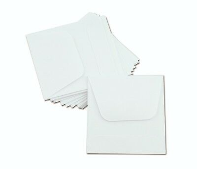 100/Pk - 2x2 COIN ENVELOPES MH Paper White Gummed Seal Acid Free