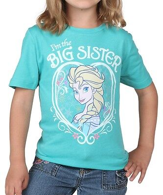 Girls Frozen Elsa I'm the Big Sister T-Shirt