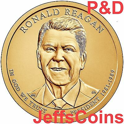 2016 P&D Ronald  Reagan Presidential Golden Dollars Best Price PD 2 Coins 16PU