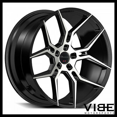 20 Black Machine Cv3 Style Concave Wheels Rims Fits Infiniti G35