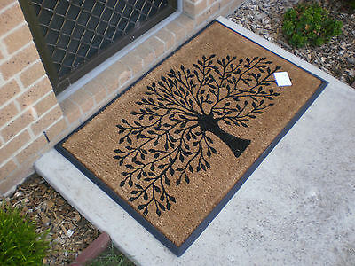 Tree Of Life - Extra large Natural Coir & Recycled Rubber Door Mat