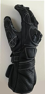 Motorcycle Cowhide Leather Racing Motorbike Gloves