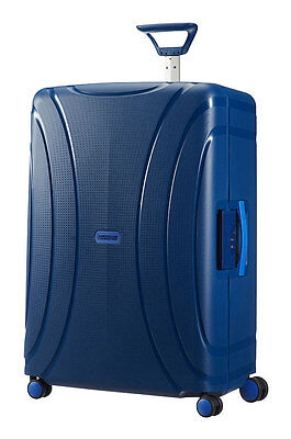 American Tourister Lock 'n' Roll 4 Wheel Spinner Medium Suitcase, 69cm,  Blue