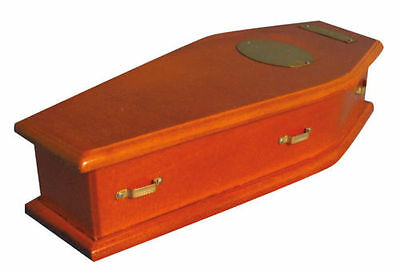 1/12Th Scale Miniature Wooden Coffin - Satin Lined - New And Boxed - Df849