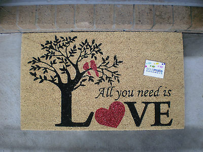 Tree of Love - Natural Coir with PVC Backing Door Mat