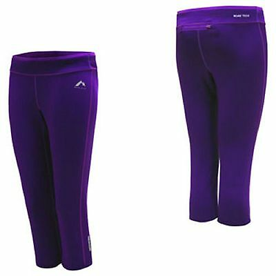 More Mile Womens More-Tech 3/4Capri Running Gym Tights Size 16