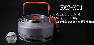 Coffee Maker 0.8L Pot Outdoor Camping Cookware Kettle Camp Equiment Fire Maple