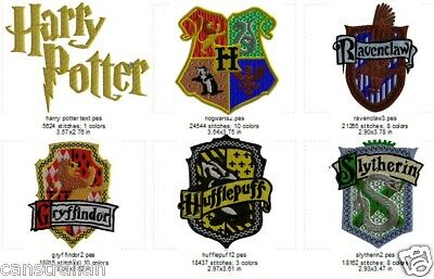 Machine Embroidery Designs - Harry Potter set of 6