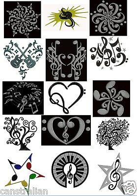 Machine Embroidery Designs - Musical Blocks set of  15