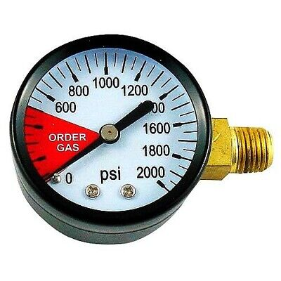 Regulator Replacement Gauge 0-2000 PSI Left Hand Thread, Keg Draft Beer CO2,