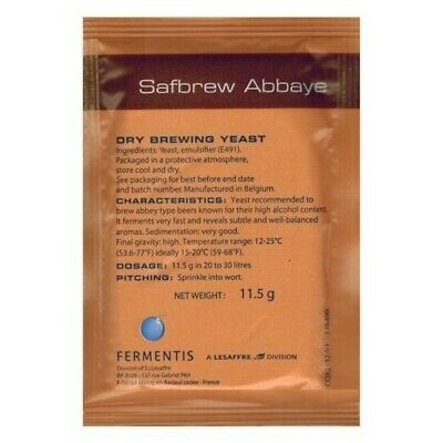 Fermentis Safbrew Abbaye (BE-256) Homebrewing Abbey Beer Yeast 11.5 Gram Satchet