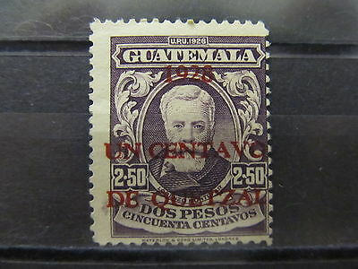 A2P28 GUATEMALA 1928 SURCH 1c ON 2.50p USED