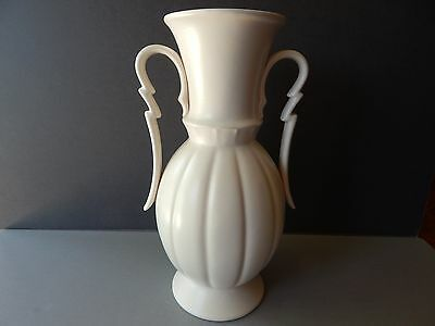 "STANGL Zig Zag Handle Scallop Vase #3153 - 13"" tall"