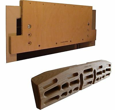 Crusher Matrix and Ex W.Mounting Board Combo - Fingerboard, Climbing, Hang Board