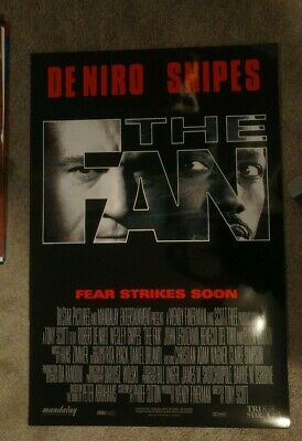 The Fan (1996) Original Movie Poster 27x40  Double Sided Robert Deniro