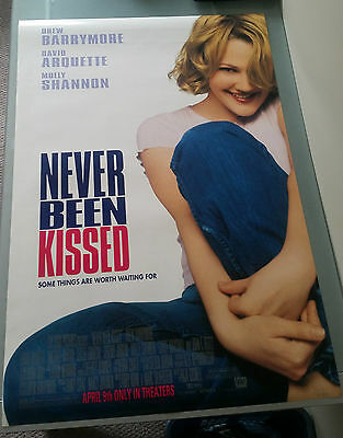 Never Been Kissed Original Movie Poster 27x40 Double Sided Drew Barrymore