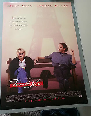 French Kiss Movie Poster 27x40 Kevin Kline Meg Ryan Double Sided