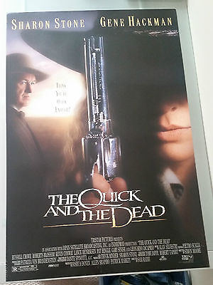 The Quick And The Dead Movie Poster 27x40 Gene Hackman Sharon Stone Double Sided