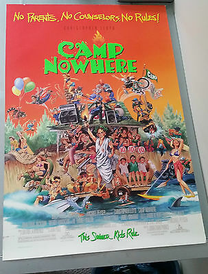 Camp Nowhere Movie Poster 27x40 Christopher Lloyd Double Sided
