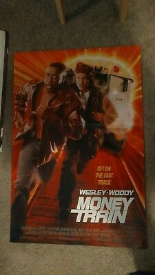 Money Train (1995) Original Movie Poster 27x40 DS Wesley Snipes Woody Harrelson